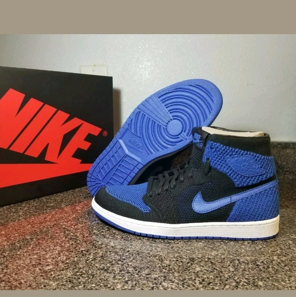 best sneakers 4842b c7fa0 Nike Air Jordan 1 Retro Flyknit ROYAL 919704 006
